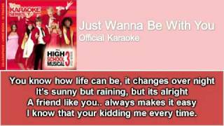 05 Just Wanna Be With You (Official Karaoke / Instrumental) with Lyrics on Screen