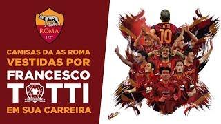 Camisas da AS Roma vestidas por Totti durante a carreira (1993-2017) #TottiDay