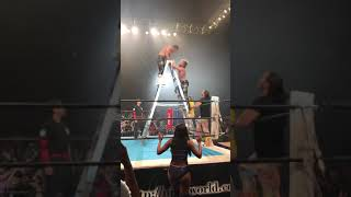 Cody Rhodes and Kenny Omega Suplex OFF TOP OF LADDER