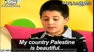 "Compilation of 8 versions of a Palestinian song presenting Israeli cities as part of ""Palestine"""