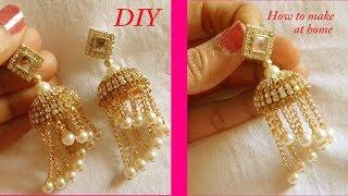 Download DIY || how to make silk thread bridal jhumka earrings at ...