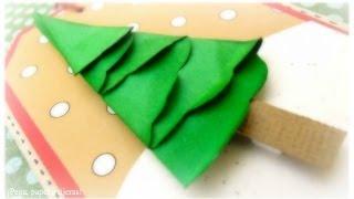dn cmo hacer un abeto de papel tutorial rbol de navidad y tarjeta scrapbook