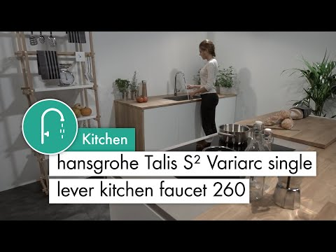 hansgrohe Talis S² Variarc Single lever kitchen mixer 260 with pull-out spout #14872000