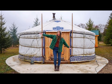 MONGOLIAN YURT Stay on a Biodynamic Farm 🛖🌿 | Spring GLAMPING in Ontario, Canada