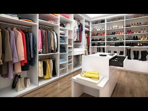 Skreddersydd walk-in-closet / Model: Arcos & Strass - Farge: Everest