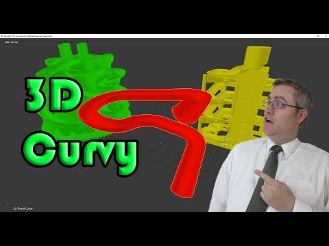 How to model a marble machine with curves in Blender