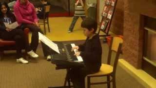 Noah's Plays Bach - First Piano Recital