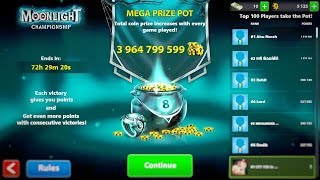 8 Ball Pool - Moonlight Championship Gameplay With monnlight cue