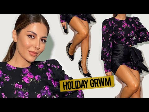 Holiday GRWM | Hair + Makeup + Outfit