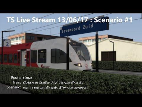 met de merwedelingelijn GTW naar zevenoord (Livestream 13/06/17)
