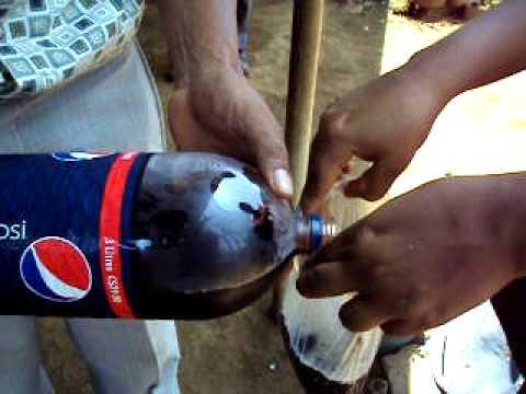 Tomando gaseosa en Nicaragua