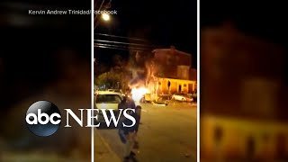 Investigation underway of car explosion caught on camera