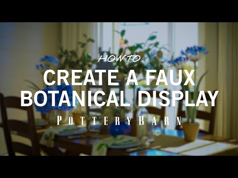 How to Create a Faux Botanical Display