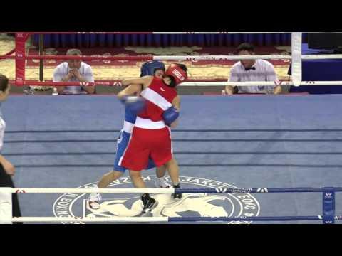 Kazakhstan women's boxing championships 2016, final, 54 kg
