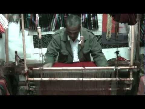 Textile dyeing and weaving, Morocco