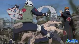 Kakashi VS Pain [HD]