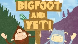Bigfoot and Yeti - a children's picture book