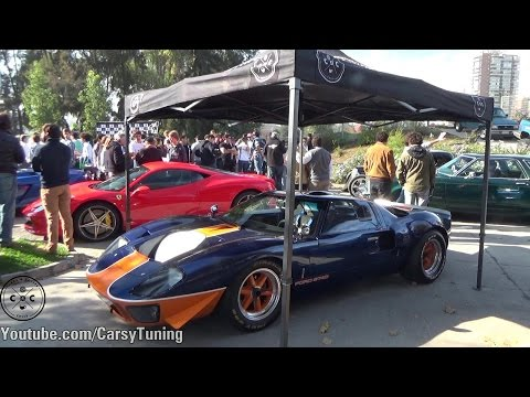 Cars and Coffee Chile Meet and Drive April 2016 - GT40, Huracan, Scuderia and more!