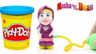 Masha and the Bear Play Doh Video! Маша и Медведь Masha i Medved Animation Stop Motion