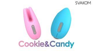 video Modro-stříbrný vibrační stimulátor klitorisu Candy
