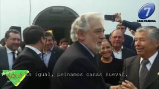 Plácido Domingo recibe Homenaje en Puebla / Exclusiva Suéltalo Aquí con Angélica Palacios
