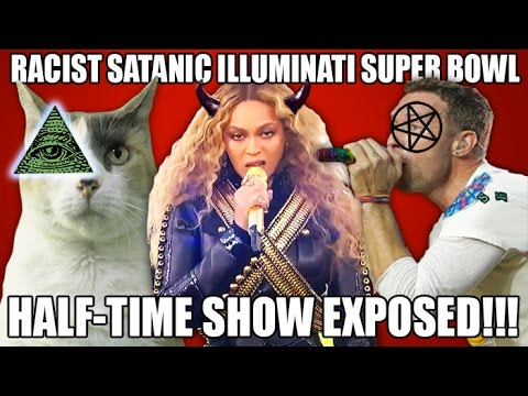 Racist Satanic Illuminati NWO Super Bowl Halftime Show EXPOSED!