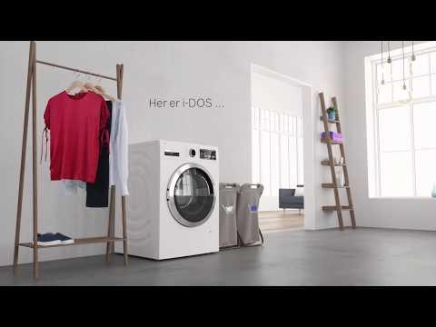 Perfekt rent vasketøj med i-DOS vaskemaskine fra Bosch.