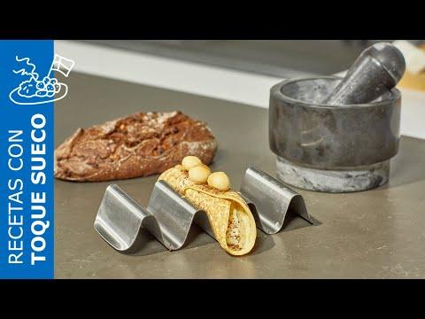 Receta de panqueques rellenos de nata, nueces y plátano – IKEA