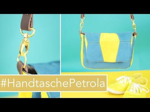 Patchwork Handtasche #HandtaschePetrola nähen mit kostenlosem Schnittmuster
