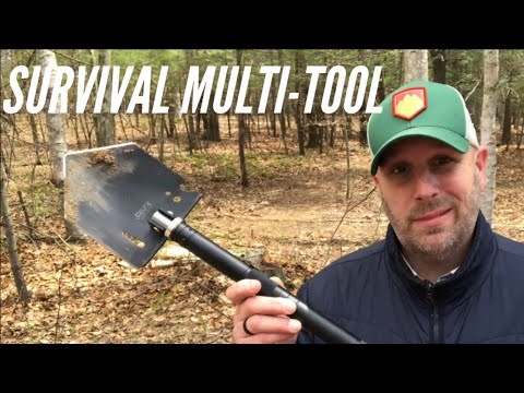 Survival & Camping Multi-Tool: Axe, Shovel, Knife, Fire Steel, And More by Iunio