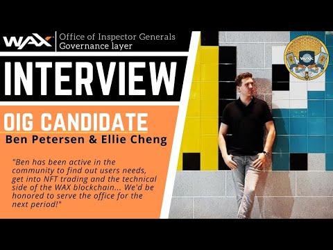Ben Petersen | OIG Candidate | WAX Governance