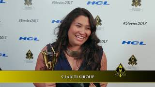 Clariti Group wins in the 2017 Stevie® Awards for Women in Business