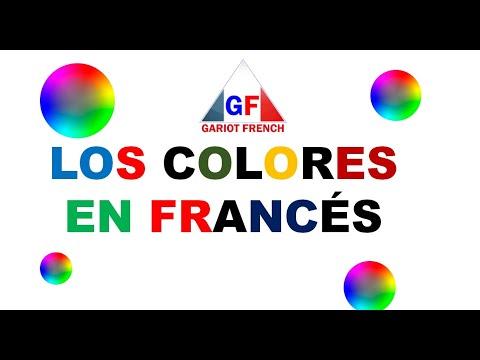 Los colores en francés y Español - Couleurs en français et en espagnol pour les enfants
