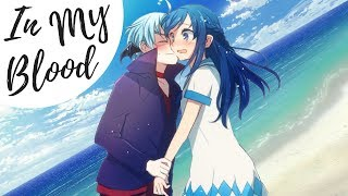 Nightcore - In My Blood (Lyrics) (Switching Vocals)