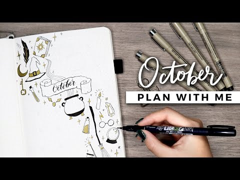 PLAN WITH ME | October 2018 Bullet Journal Setup