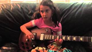 Kylee playing Eric Johnson scales