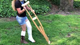 Fell Down the Stairs and Broke My Leg - Now Hopping and Crutching in My New Cast - Ep. 3