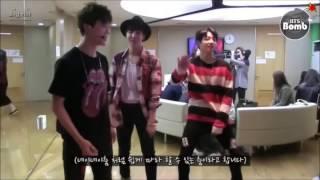 Jimin J-hope Jungkook dancing to nae nae