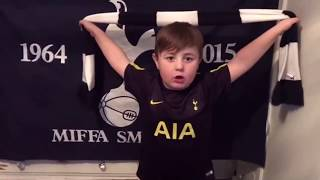 """Cute 4 Year old, Tottenham Response To Salah Salah Song. """"Oh Dele Alli da da da da, Eriksen..."""""""