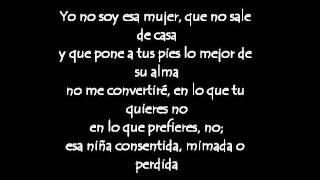 Yo No Soy Esa Mujer Paulina Rubio Lyrics / Letra