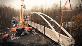 AJM Montáž mostu pro cyklisty Ostrava 2014 TEREX DEMAG AC 250-1 + EXPLORER 5800