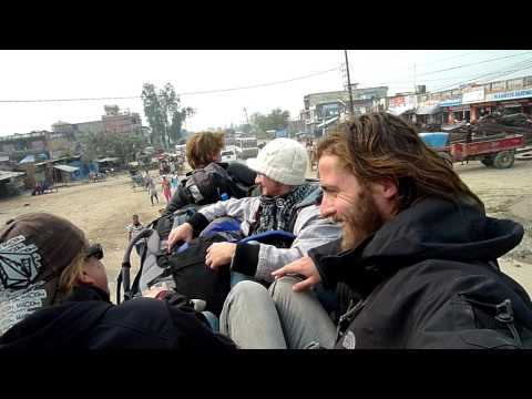 On top of the bus (Nepal)