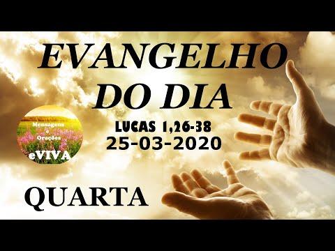 EVANGELHO DO DIA 25/03/2020 Narrado e Comentado - LITURGIA DIÁRIA - HOMILIA DIARIA HOJE