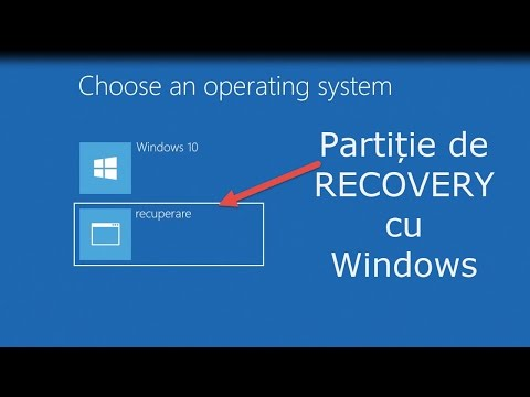 Creare partiție de recovery boot-abila cu Windows
