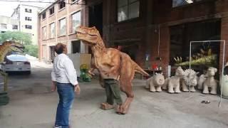 Realistic Alive Jurassic Outdoor Robot Dinosaur Display