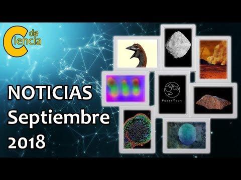 Noticias científicas septiembre 2018