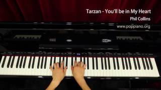 Tarzan - You'll be in My Heart - Phil Collins (piano) instrumental / play by ear