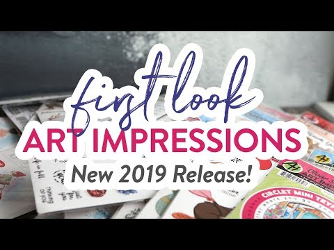 🔴LIVE REPLAY! First Look at NEW Art Impressions Release!
