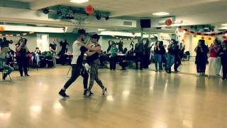 Pamela e Francesco Urban Kiz demo after class!!
