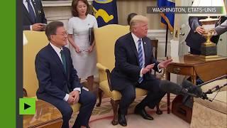 «Vous êtes de pire en pire» : Trump s'énerve devant une cohue de journalistes